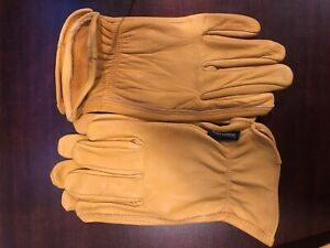 Leather Work Gloves Xl Soft Size Extra Large
