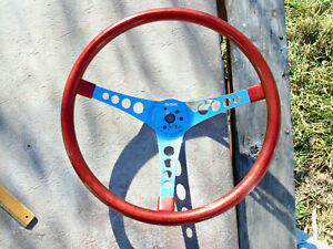 Superior 500 Red Metallic Steering Wheel Vintage Hot Old Low Rat Ford Dodge Gm