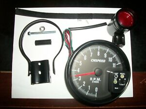 Fmr 0 11 000 Rpm 5 Tachometer With Shift Light And Recall W mounting Bracket