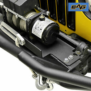 Eag Steel Winch Mounting Plate Fit For 87 06 Jeep Wrangler Tj Yj