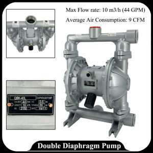 Double Diaphragm Pump Transfer Membrane Air operated 1 1 2 inlet outlet 44gpm Us
