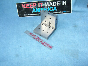 Angle Plates 3 Precise Ground Machinist Toolmaker Clean Vintage Used Old Tools