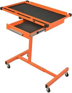 Lt118 Heavy Duty Adjustable Work Table With Drawer 220 Pound Capacity Rolling To
