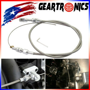 For Ls Engine 36 Stainless Steel Braided Throttle Gas Cable For Ls1 4 8 5 3 5 7