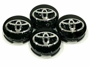 62mm 2 44 Toyota Camry Corolla Avalon Wheel Center Hub Cap Black 4pcs