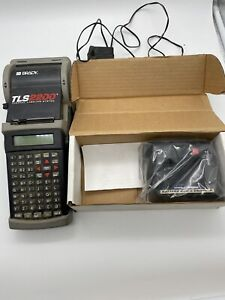 Brady Tsl2200 Thermal Printer Fast Charger Included Untested Turns On