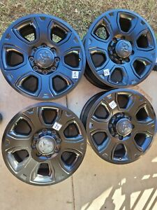 2014 2019 Dodge Ram 2500 3500 Factory Oem 20 Black Wheels Rims Set Of Freeshipp