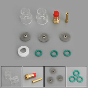 Tig Welding Torch 3 32 Gas Lens 12 Pyrex Cup 2 4mm Collet Kit For Wp 17 18 26
