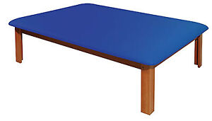 Fabrication Enterprises Mat Platform Table 4 1 2 X 6 Ft Dark Blue