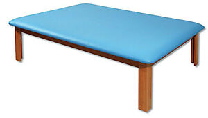 Fabrication Enterprises Mat Platform Table 4 1 2 X 6 Ft Light Blue