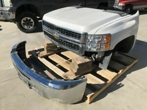 07 08 Silverado 6 0 Complete Front Clip Hood Bumper Fenders Core Support Cooling