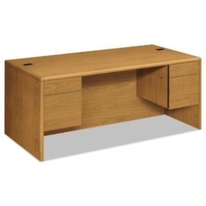 Hon Double Pedestal Desk 72 By 36 By 29 1 2 inch Harvest