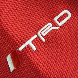 Shift Knob Boot Cover Jdm Trd Sports Mt at Racing Fabric Red Stitch For Toyota