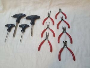 Mac Tools Used Lot Of T Handle Hex And Mini Pliers