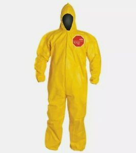 Dupont Tychem 2000 Chemical Resistant Coverall W Hood Size 2xl