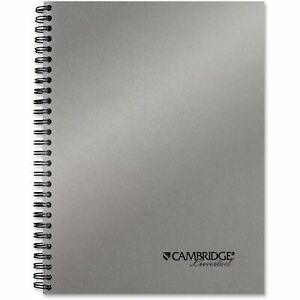 Mead Cambridge Side bound Guided Business Notebook 7 1 4 X 9 1 2 Silver 80