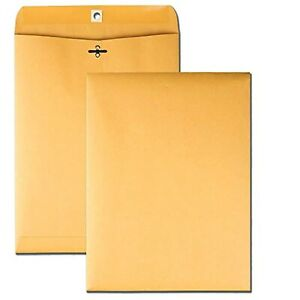 Clasp Envelopes 10x13 Inch With Clasp Closure Gummed Seal 28lb 15 Pack