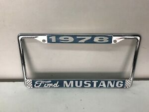 1978 Mustang Ii License Plate Frame