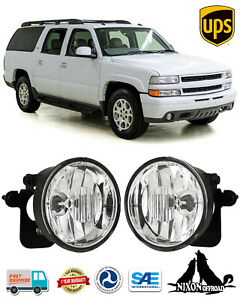 Clear Lens Driving Fog Lights Front Bumper Lamps For Chevy Suburban Tahoe Z71