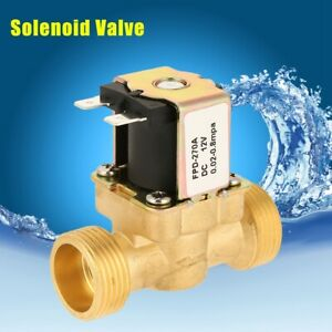 1pc Dc12v G3 4 Normally Closed Brass Electric Solenoid Magnetic Valve For Water