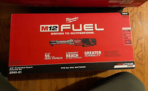 Milwaukee 2560 21 M12 Fuel 3 8 Extended Reach Ratchet Kit W 2 0 Compact Battery