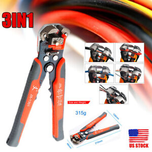 Multi Use Automatic Wire Cable Striper Cutter Electric Stripping Pliers Cut Tool