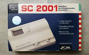 Icm 2001 Non programmable Thermostat Heat cool heat Pump gas oil electric New