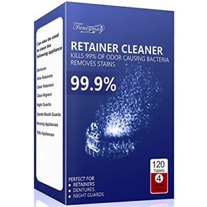 Retainer Cleaning Tablets 120 Tablets 4 Months Supply Mouth Guard Cleaner