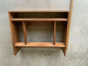 Mid Century Danish Modern Tier All Wood Peg Leg Bookcase Encyclopedia Shelf