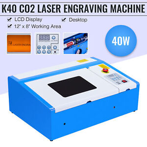 Co2 Laser Engraver Cutter 40w 12 8 Cutting Engraving Marking Machine Upgraded