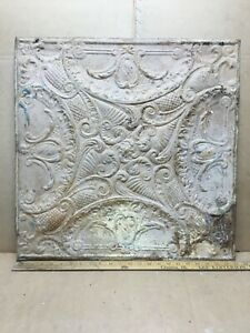 1pc 23 X 23 Full Piece Antique Ceiling Tin Vintage Reclaimed Salvage Art Craft