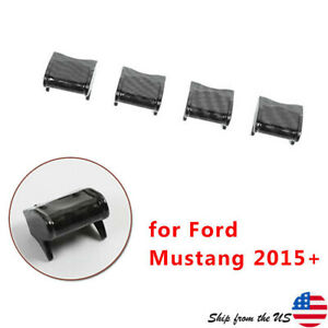 Carbon Fiber Dashboard Switch Button Cover Trim Fit For Ford Mustang 2015 2020