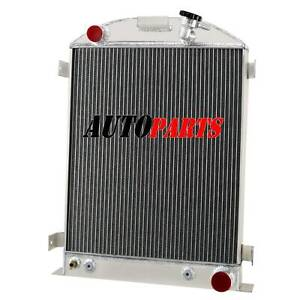 60mm 4row Aluminium Radiator For 1928 1939 Ford Model Grille Shells Chevy Engine