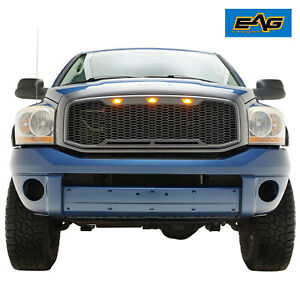 Eag Led Grille Replacement Full Grill Fit 06 08 Dodge Ram 1500 06 09 Ram Hd