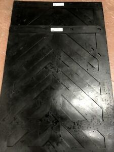 Lot Of 2 Chevron Style Mud Flaps 24 x30 By Hda Truck Pride Brand New