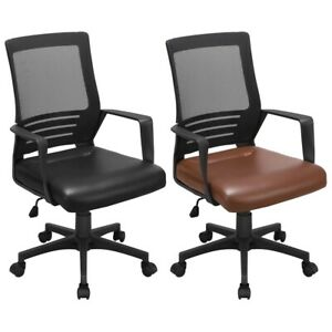 Premium Pu Leather Midback Manager s Adjustable Chair With Lumbar Support