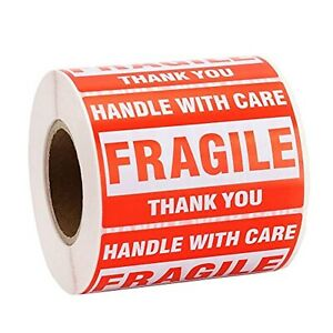 500 1000 Labels 2 X 3 fragile Stickers Handle With Care Warning Shipping Labels