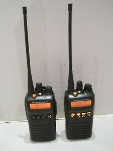 Lot Of 2 Vx Standard Vx 454 g7 5 Uhf 450 512 Mhz 512 Ch 5w Two Way Radio