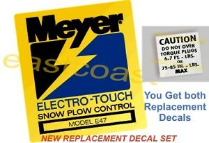 E47 Meyer Pump Snow Plow Decals 1 Mini Torq 1 Elctro Touch Pump Decal E 47 Mp2