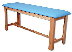 Fabrication Enterprises Classic H brace Exam Table Light Blue