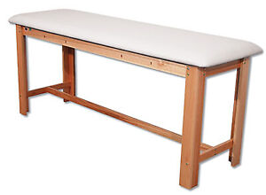 Fabrication Enterprises Classic H brace Exam Table White