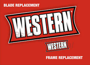 2 Western Snow Plow Decals New Kit 1 Blade 1 Frame Sticker Replacements wbns1