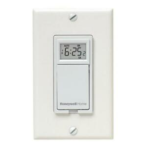 Honeywell Home Timer Single Pole Wall Mounted Programmable Indoor White 120 Volt