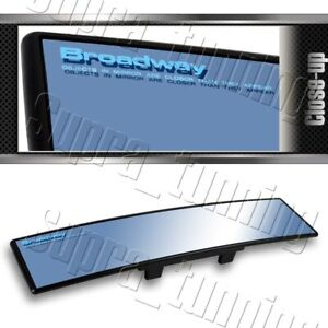 300mm Broadway Convex Interior Clip On Rear View Blue Tint Mirror Universal 4
