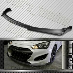 Matt Black For 2013 2016 Hyundai Genesis Coupe Ks Style Front Bumper Body Lip