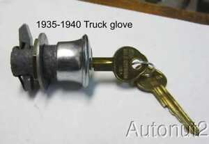 Chevrolet Truck Glove Box Lock 1935 1936 1937 1938 1939 1940 Gmc Pickup