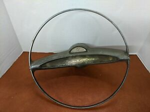 1950s Pontiac Chieftain Oem Deluxe Steering Wheel Horn Ring Button Fast Ship