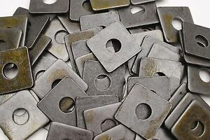 40 Plain Steel 5 8 X 2 Square Plate Washers 3 16 Thick Unplated
