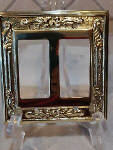Brass Victorian Antique Look Double Rocker Wall Plate Gfi Fit