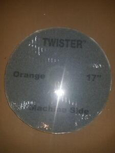 2 Pack Orange Htc Twister 17 Floor Cleaning Pads Buffer Burnisher